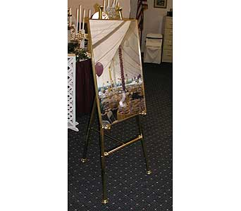 Brass Easel in Grand Island NE, Roses For You!