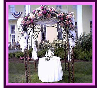 Gazebo with Stargazers in Tuckahoe NJ, Enchanting Florist & Gift Shop
