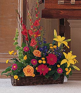 Basket of Summer Flowers in St. Louis MO, Walter Knoll Florist