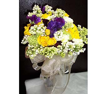 Bridal Bouquet - Lilac, Roses & Sweet Pea in New York NY, Fellan Florists Floral Galleria
