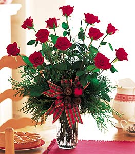 Holiday Red Roses in Evansville IN, Cottage Florist & Gifts