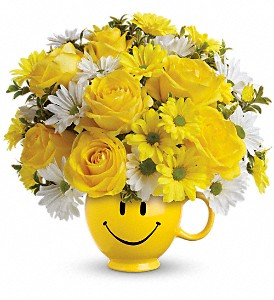 Teleflora's Be Happy Bouquet with Roses in Reno NV, Bumblebee Blooms Flower Boutique