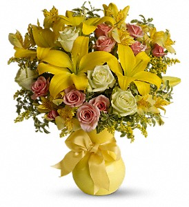 Teleflora's Sunny Smiles in Longview TX, The Flower Peddler, Inc.