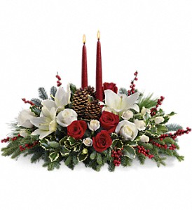 Christmas Wishes Centerpiece in Bradford MA, Holland's Flowers