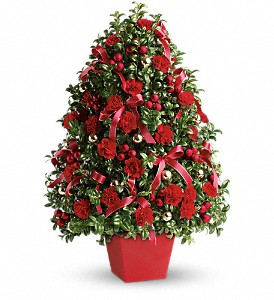 Deck the Halls Tree in San Bruno CA, San Bruno Flower Fashions