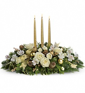 Royal Christmas Centerpiece in Olean NY, Mandy's Flowers
