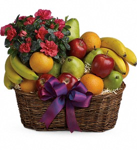 Fruits and Blooms Basket in Seattle WA, The Flower Lady