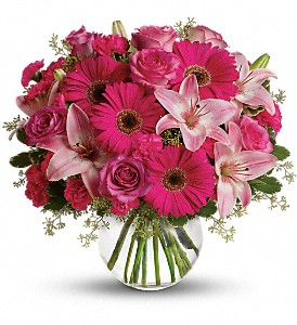 A Little Pink Me Up in Sayville NY, Sayville Flowers Inc