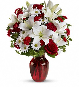 Be My Love Bouquet with Red Roses in Calgary AB, White's Flowers