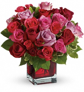 Madly in Love Bouquet with Red Roses by Teleflora in New York NY, Fellan Florists Floral Galleria