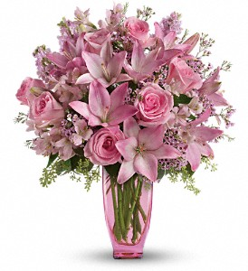 Teleflora's Pink Pink Bouquet with Pink Roses in Thornhill ON, Wisteria Floral Design