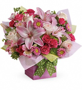 Teleflora's Pretty Pink Present in Broomall PA, Leary's Florist
