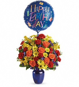 Fly Away Birthday Bouquet in Edgewater FL, Bj's Flowers & Plants, Inc.