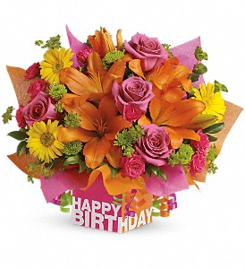 Teleflora's Rosy Birthday Present in Laurel MD, Rainbow Florist & Delectables, Inc.