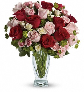 Cupid's Creation with Red Roses by Teleflora in Oshkosh WI, Flowers & Leaves LLC