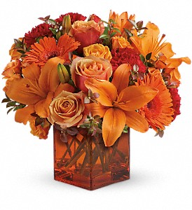 Teleflora's Sunrise Sunset in Mount Morris MI, June's Floral Company & Fruit Bouquets