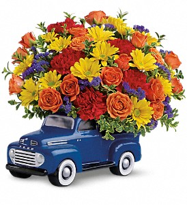 Teleflora's '48 Ford Pickup Bouquet in Warwick RI, Yard Works Floral, Gift & Garden