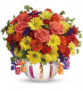 Teleflora's Brilliant Birthday Blooms in Muskegon MI, Wasserman's Flower Shop