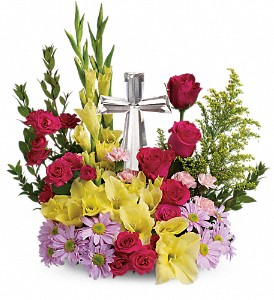 Teleflora's Crystal Cross Bouquet in Lynn MA, Flowers By Lorraine