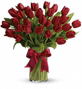 Radiantly Red Tulips in Bakersfield CA, White Oaks Florist
