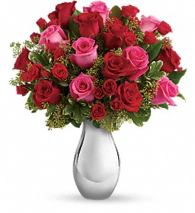 Teleflora's True Romance Bouquet with Red Roses in Orlando FL, Harry's Famous Flowers