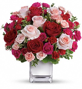 Teleflora's Love Medley Bouquet with Red Roses in Orlando FL, Harry's Famous Flowers