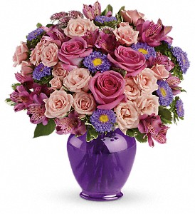 Teleflora's Purple Medley Bouquet with Roses in Springfield OH, Netts Floral Company and Greenhouse