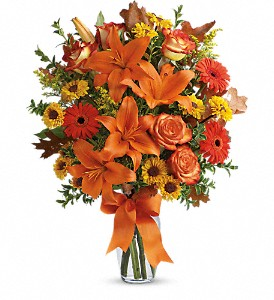 Burst of Autumn in Beaumont TX, Blooms by Claybar Floral