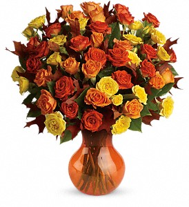Teleflora's Fabulous Fall Roses in Forest Hills NY, Danas Flower Shop
