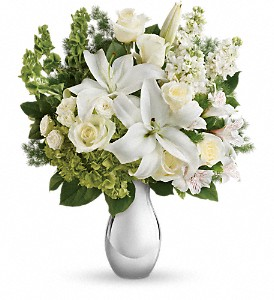 Teleflora's Shimmering White Bouquet in Meadville PA, Cobblestone Cottage and Gardens LLC