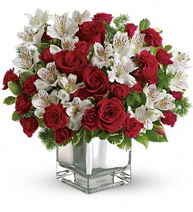 Teleflora's Christmas Blush Bouquet in West Los Angeles CA, Westwood Flower Garden