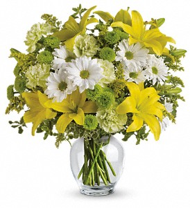 Teleflora's Brightly Blooming in North Attleboro MA, Nolan's Flowers & Gifts