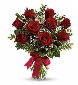 Thoughts of You Bouquet with Red Roses in Natchez MS, Moreton's Flowerland