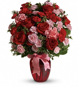 Dance with Me Bouquet with Red Roses in Allen TX, The Flower Cottage