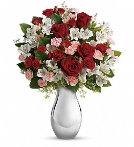Teleflora's Crazy for You Bouquet with Red Roses in San Bruno CA, San Bruno Flower Fashions