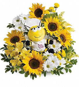 Teleflora's Bee Well Bouquet in Tyler TX, Flowers by LouAnn