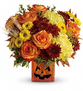 Teleflora's Halloween Glow in Woodbridge NJ, Floral Expressions