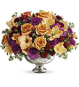 Teleflora's Elegant Traditions Centerpiece in Lancaster PA, Petals With Style