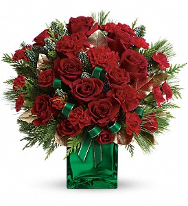 Teleflora's Yuletide Spirit Bouquet in Worcester MA, Perro's Flowers