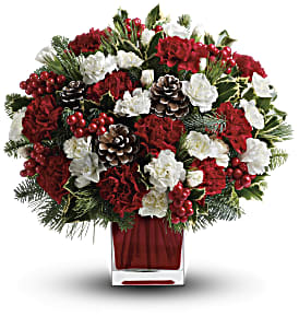 Make Merry by Teleflora in Menomonee Falls WI, Bank of Flowers