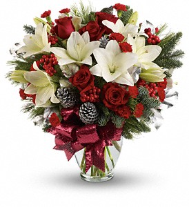 Holiday Enchantment Bouquet in Oklahoma City OK, Array of Flowers & Gifts