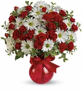 Red White And You Bouquet by Teleflora in Canton NY, White's Flowers