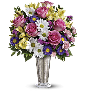Smile And Shine Bouquet by Teleflora in Rochester NY, Red Rose Florist & Gift Shop