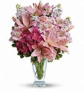 Teleflora's Blush Of Love Bouquet in Stuart FL, Harbour Bay Florist