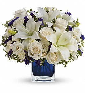 Teleflora's Sapphire Skies Bouquet in Oakland MD, Green Acres Flower Basket