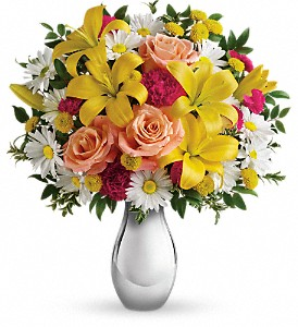 Just Tickled Bouquet by Teleflora in Williston ND, Country Floral