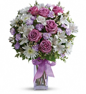 Teleflora's Lavender Laughter Bouquet in Los Angeles CA, Westchester Flowers