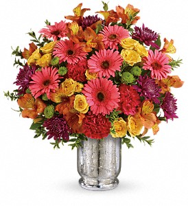 Teleflora's Pleased As Punch Bouquet in Spring Lake Heights NJ, Wallflowers