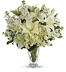 Teleflora's Purest Love Bouquet in Amherst NY, The Trillium's Courtyard Florist