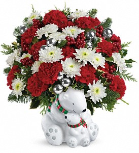 Teleflora's Send a Hug Cuddle Bears Bouquet in Oak Hill WV, Bessie's Floral Designs Inc.
